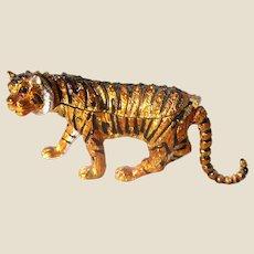 """Jeweled"" Tiger Larger Trinket Box or Dresser Box"