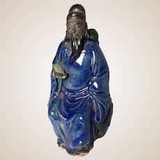 "Chinese Mudman ""Royal Immortal"" Tsao Kuo Ch'iu, With His Emblem Castanets"