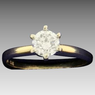 .45ct Solitaire Diamond Engagement Ring
