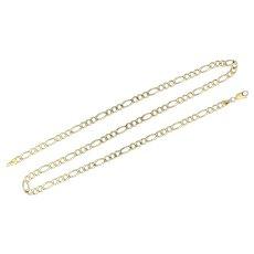 19 Inch Gold Figaro Neck Chain