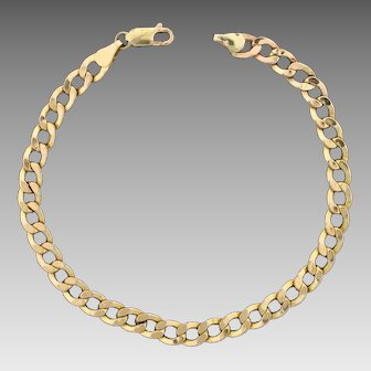 Italian Made Curb Link Bracelet in 10K Yellow Gold