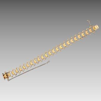 Heavy 18K Rose Gold Designer Link Bracelet