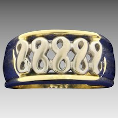 Infinity Symbol Two Tone Gold Ring in 14K Yellow and White Gold