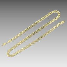 18 Inch Figaro Chain in 14K Yellow Gold