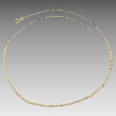 Italian Made Braided S-Link Neck Chain in 14K Yellow Gold