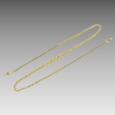 16 Inch Rope Style Neck Chain in 14K Yellow Gold