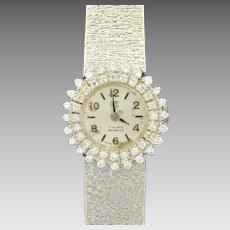 Antique Women's Diamond Watch in 18K White Gold