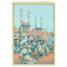 Cyrus Baldridge - Peking Market 1925 - Japanese Woodblock Print