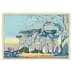 Cyrus leRoy Baldridge Woodblock Print (Woodcut) - Peking 1925