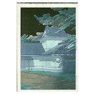 Kawase Hasui - Japanese Woodblock Print (Wood block print, woodcut) - Aoba Castle in Sendai