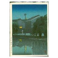Hasui Kawase - Ishizue, Niigata - Japanese Woodblock Print (Wood block print, woodcut)