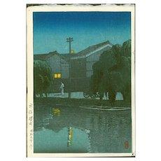 Hasui Kawase - Ishizue, Niigata - Japanese Woodblock Print (Woodcut)