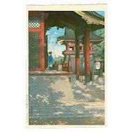 Kawase Hasui - Meguro Fudo Temple - Japanese Woodblock Print (Wood block print, woodcut)
