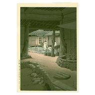 Kawase Hasui  - Mt. Chiri, Korea - Japanese Woodblock Print  (Wood block print, woodcut)