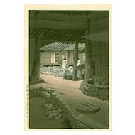 Kawase Hasui  - Mt. Chiri, Korea - Japanese Woodblock Print