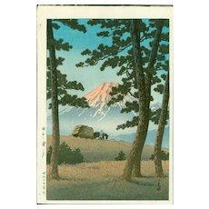 Kawase Hasui - Evening at Tagonoura- Japanese Woodblock Print