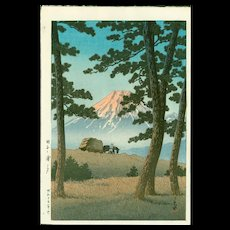 Kawase Hasui - Evening at Tagonoura- Japanese Woodblock Print