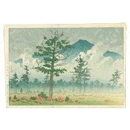 Kawase Hasui - Senjo Plain, Nikko - First Edition Japanese Woodblock Print (Wood block print, woodcut)