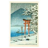Kawase Hasui - Chuzenji Lake, Nikko - Japanese Woodblock Print (Woodcut)