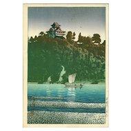Kawase Hasui - Kiso River, Inuyama - Pre-war Japanese Woodblock Print (Woodcut)