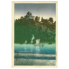 Kawase Hasui - Kiso River, Inuyama - Pre-war Japanese Woodblock Print (Wood block print, woodcut)