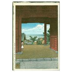 Kawase Hasui - Tamon Temple - Japanese Woodblock Print (Woodcut)