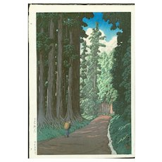 Hasui Kawase - The Nikko Highway - Japanese Woodblock Print (Wood block print, woodcut)