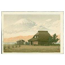 Kawase Hasui - Mount Fuji, Narusawa - Japanese Woodblock Print (Wood block print, woodcut)