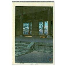 Kawase Hasui - Chion Temple, Kyoto - Japanese Woodblock Print (Wood block print, woodcut)