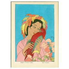 Paul Jacoulet  - Chagrin d'Amour: Kusai - Japanese Woodblock Print