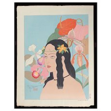Paul Jacoulet - Une Belle De Palaos - Japanese Woodblock Print -