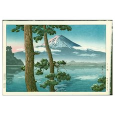 Tsuchiya Koitsu - Lake Kawaguchi (Fuji View) - Japanese Woodblock Print (Wood block print, woodcut)
