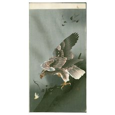 Ohara Koson  - Eagle with Outspread Wings - Japanese Woodblock Print (Woodcut)