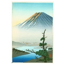 Shien - Mount Fuji and River - Japanese Woodblock Print