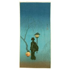 Takahashi Shotei - Spring Evening - Japanese Woodblock Print