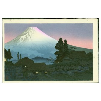 Takahashi Shotei - Mt. Fuji From Mizukubo - Japanese Woodblock Print