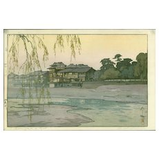 Hiroshi Yoshida Japanese Woodblock Print (Woodcut) - The Kamo River - Jizuri seal