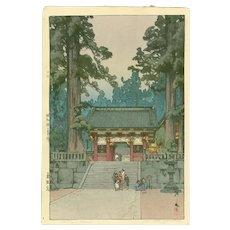 Hiroshi Yoshida - Toshogu Shrine - First Edition Japanese Woodblock Print