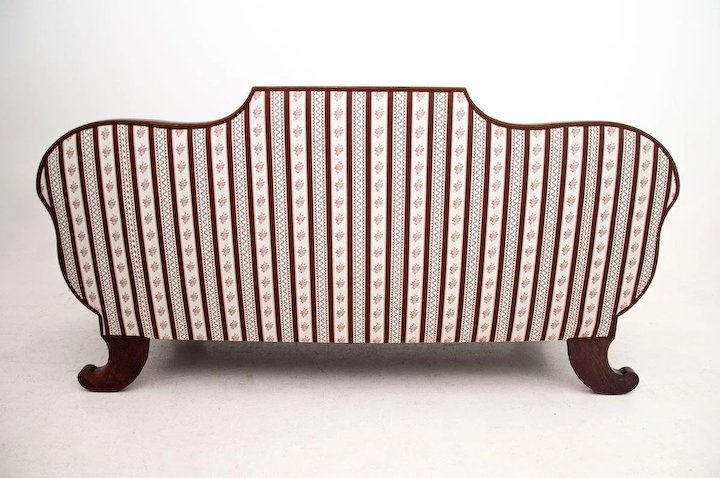 A Biedermeier Style Sofa From Around 1880. AFTER RENOVATION.