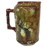 Majolica Pitcher  'Dogwood' Pattern, 1880