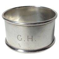 1898  English Sterling Silver Napkin Ring