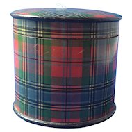 Tartan Ware Thread Holder, Victorian