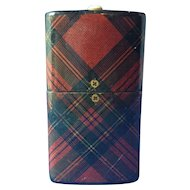 Tartan Ware 'Go-To-Bed' Match Holder, Victorian