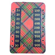 Victorian Tartan Ware Game Counter