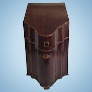 Antique English Victorian Mahogany Knife Box Converted to Four Bottle Library Decanter Box