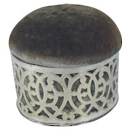 C.1900 English Silver Plated Pin Cushion/Jewelry Keeper
