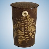 """19th Century English Fern Ware """"Go to Bed"""""""