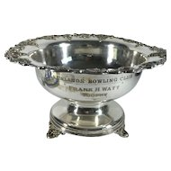 Scottish Bowling Club Silver Plate Trophy Bowl