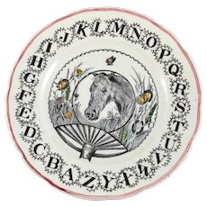 1890-1917 Child's ABC Plate - Red Tag Sale Item