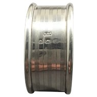 1920 English Sterling Silver Napkin Ring